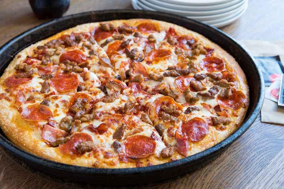 Receita de Pizza de Frigideira Mista