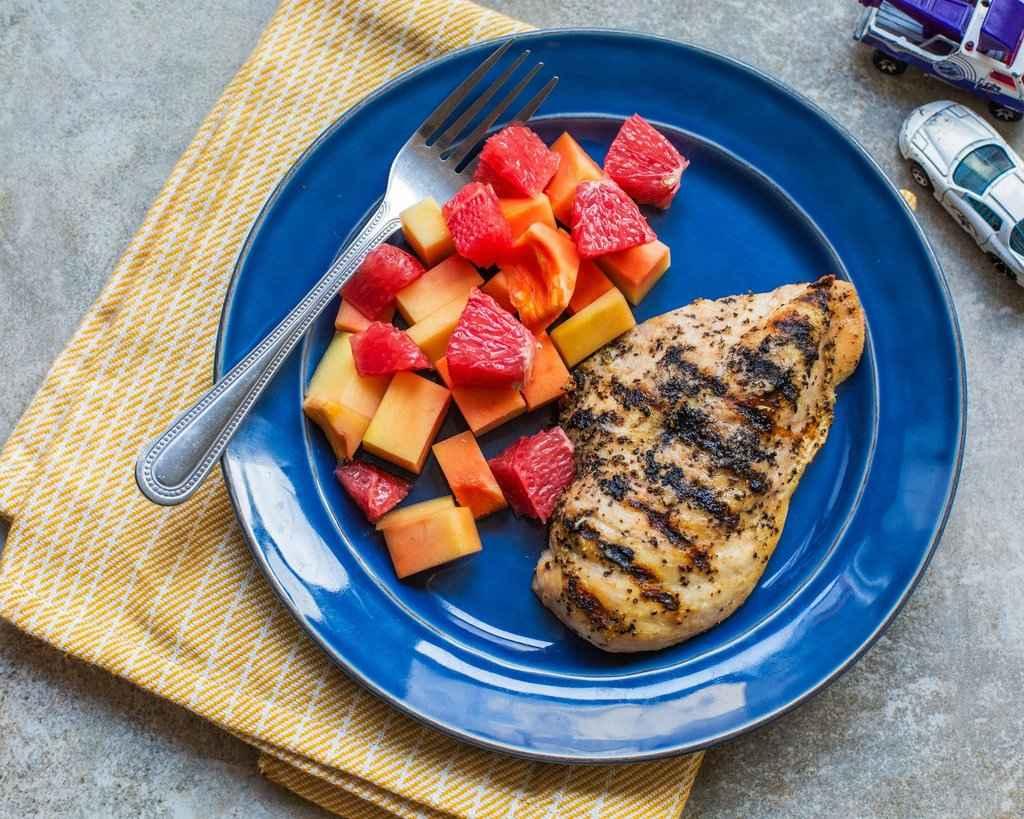 Receita de Salada de Frango com Frutas
