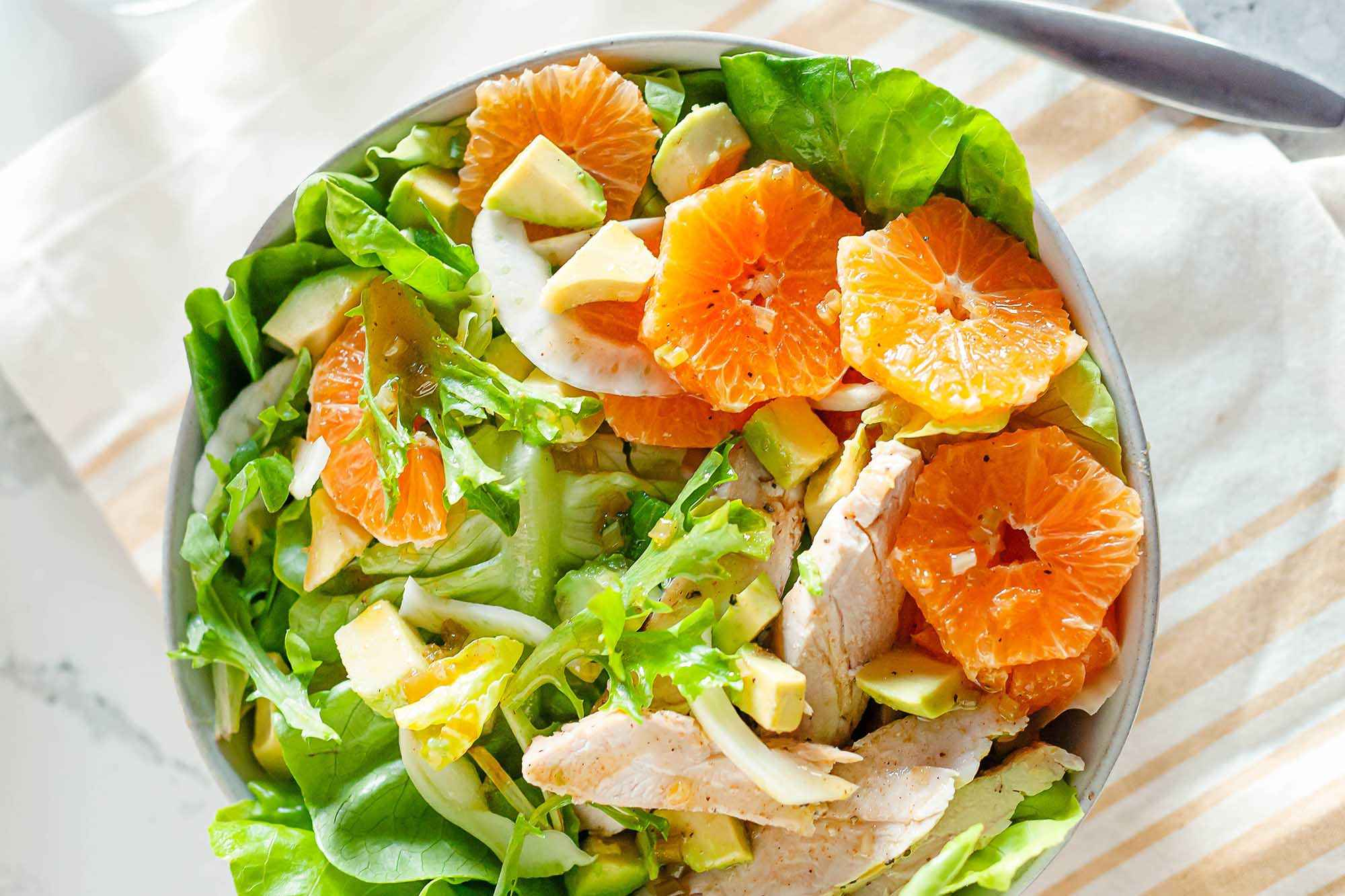 Receita de Salada de Frango com Laranja