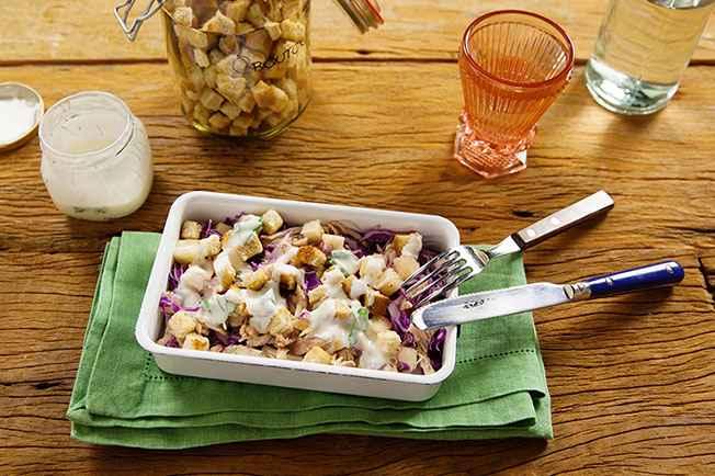 Receita de Salada de Frango com Repolho e Abacaxi