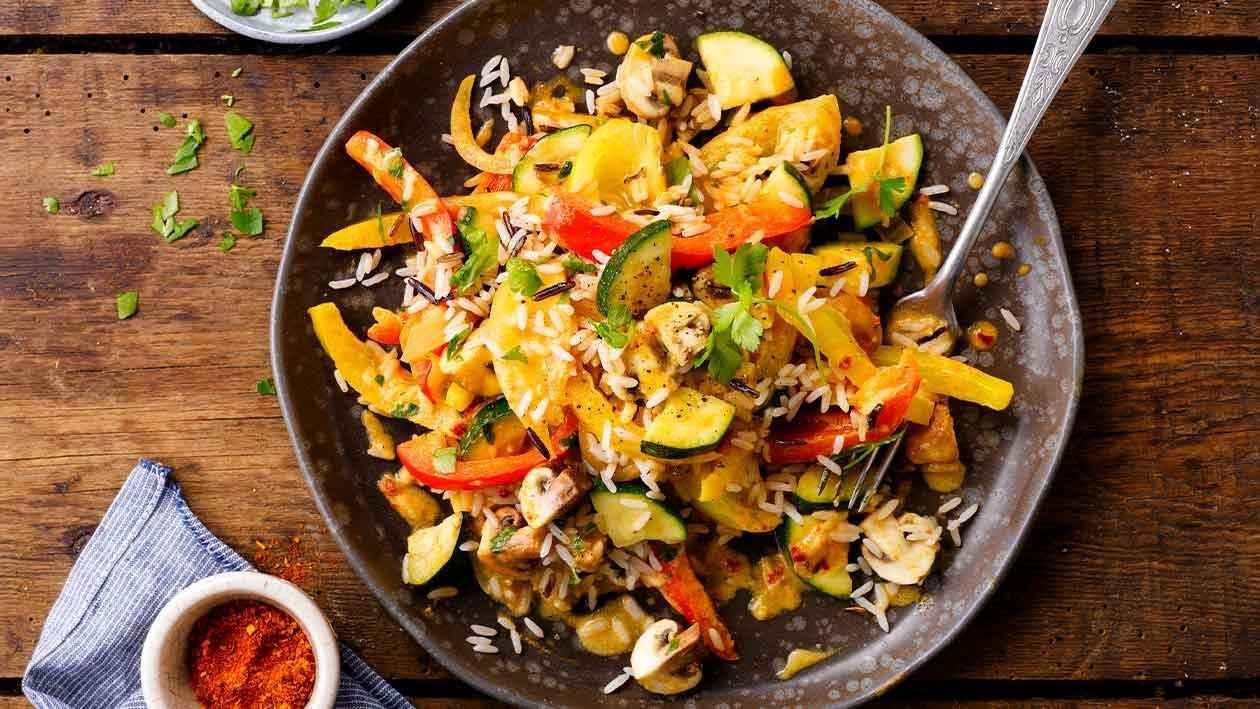 Jantar Rápido e Fácil Tudo Gostoso com Arroz de Legumes