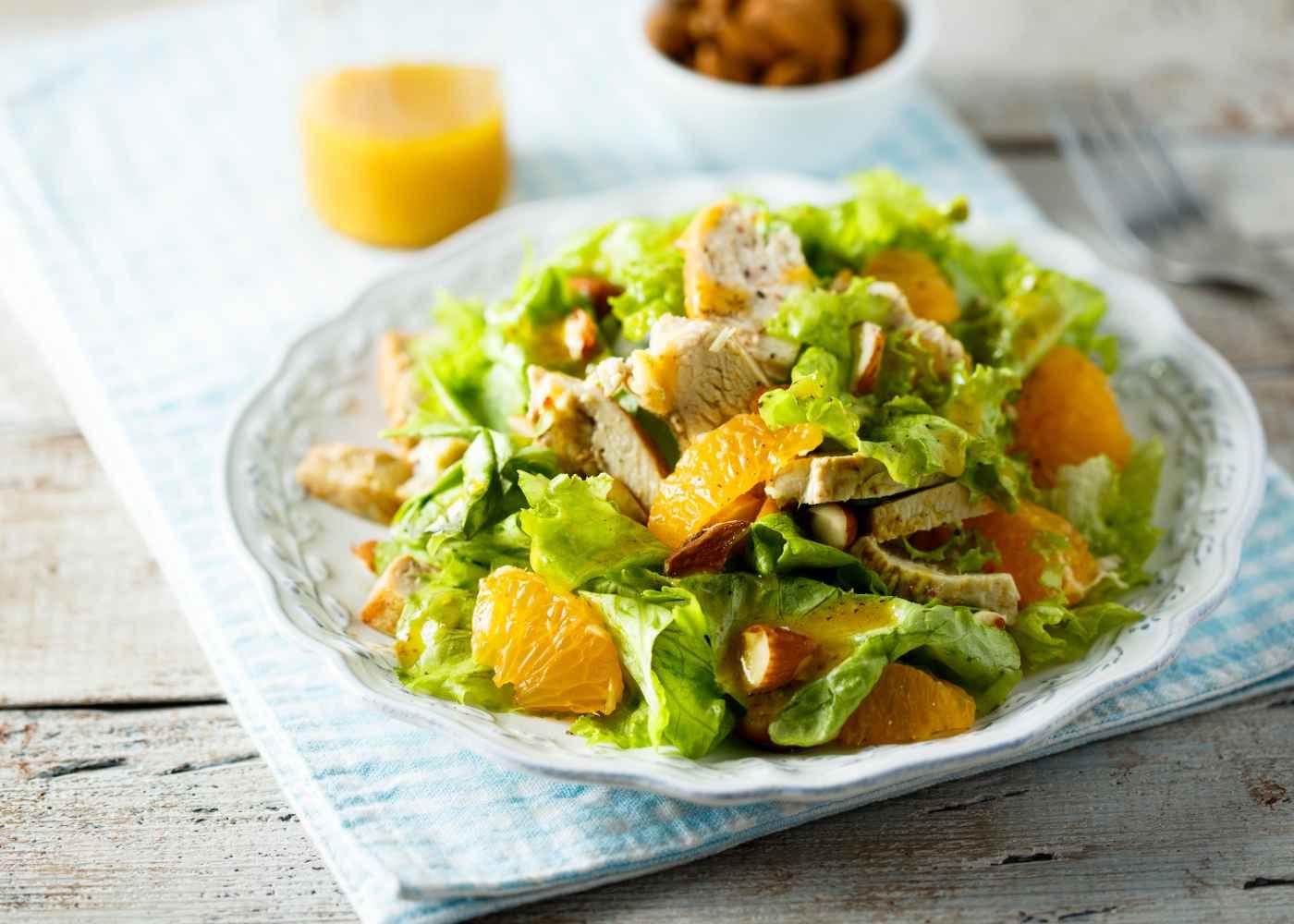 Jantar Rápido e Fácil Tudo Gostoso de Salada de Frango