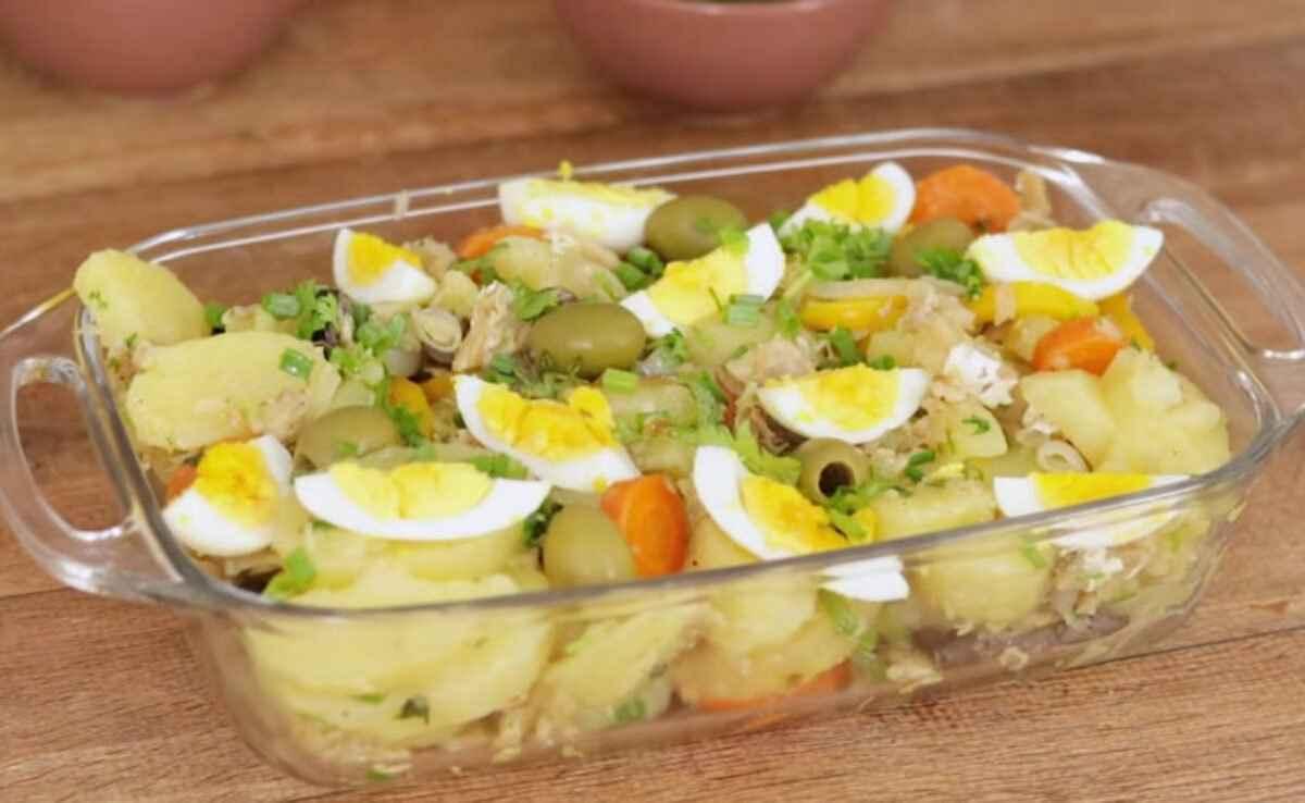 Receita de Bacalhau com batatas Delicioso