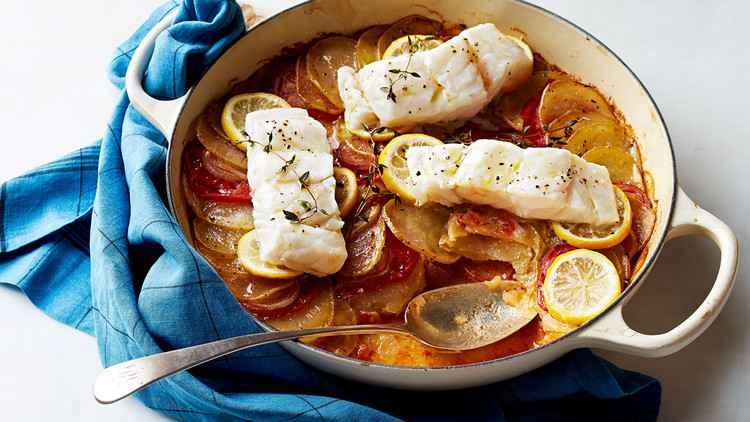 Receita de Bacalhau com batatas Fritas