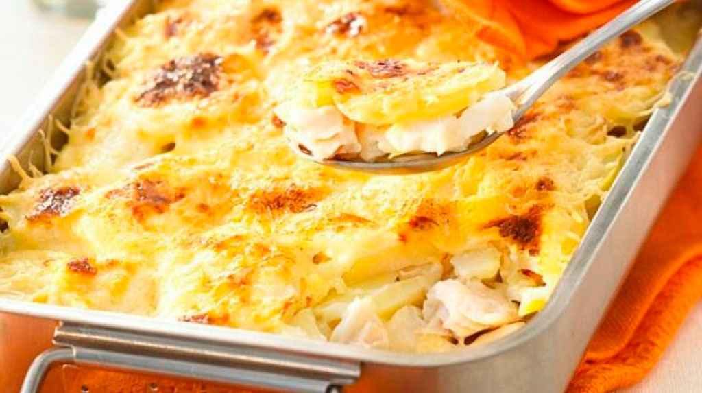 Receita de Bacalhau com batatas e Requeijão
