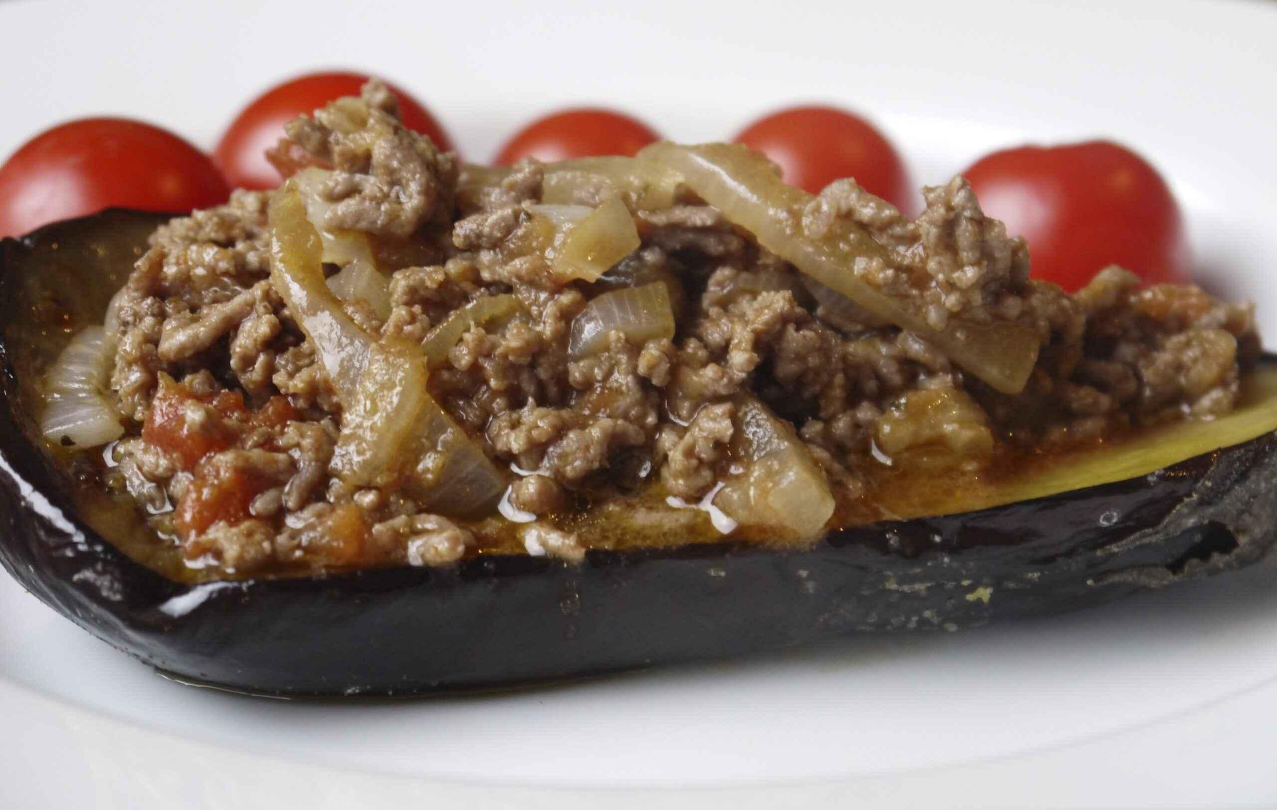 Receita de berinjela recheada com carne moída Americana