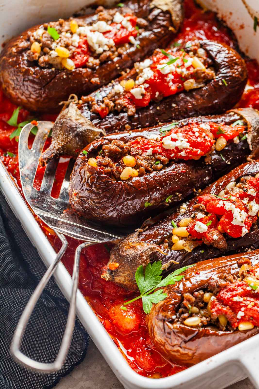 Receita de berinjela recheada com carne moída Low Carb