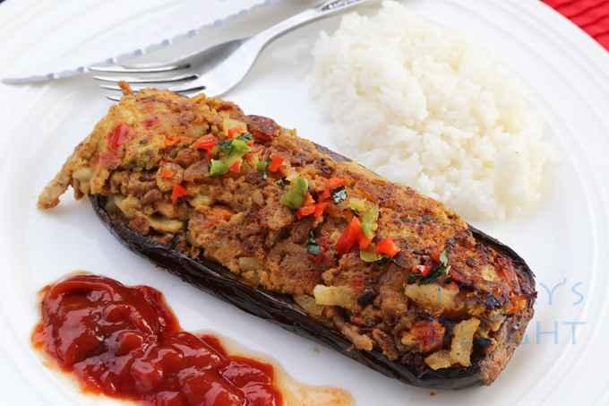 Receita de berinjela recheada com carne moída para Jantar