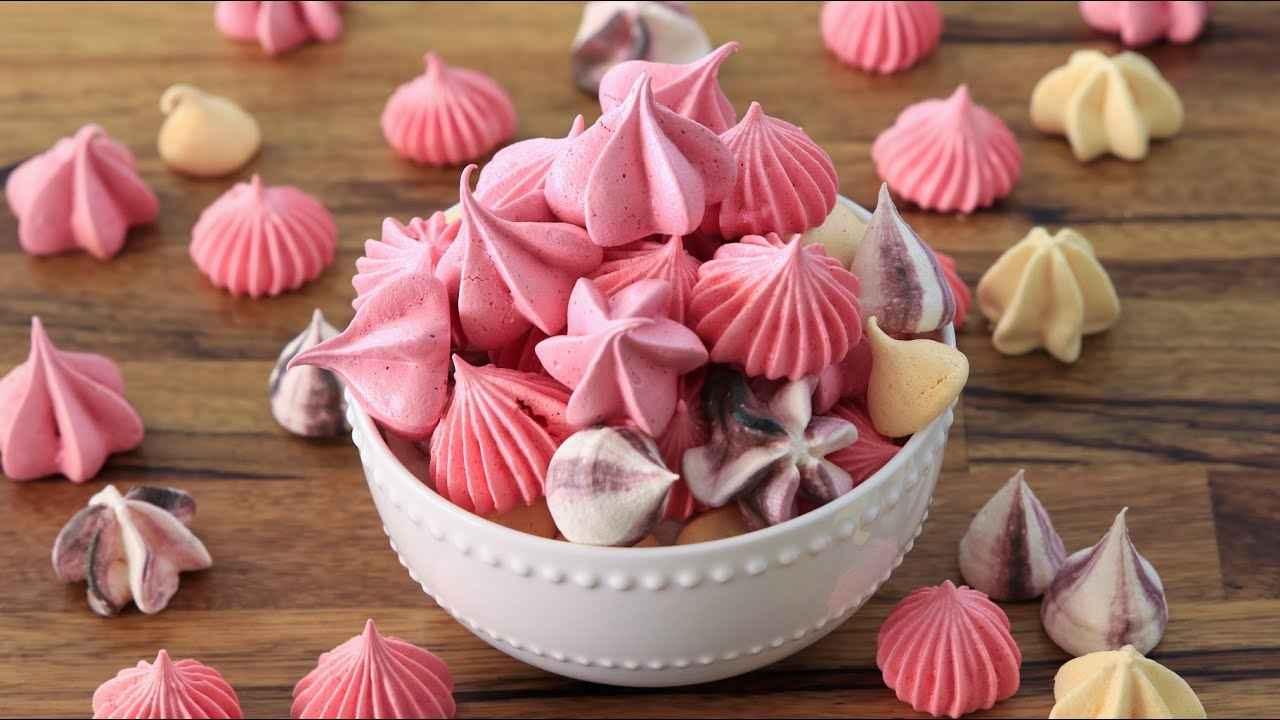 Como fazer suspiro colorido delicioso