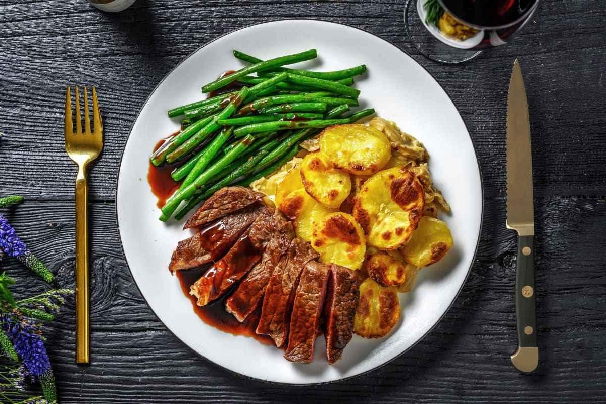Janta rápida e Fácil de Bife com Batata e Legumes salteados