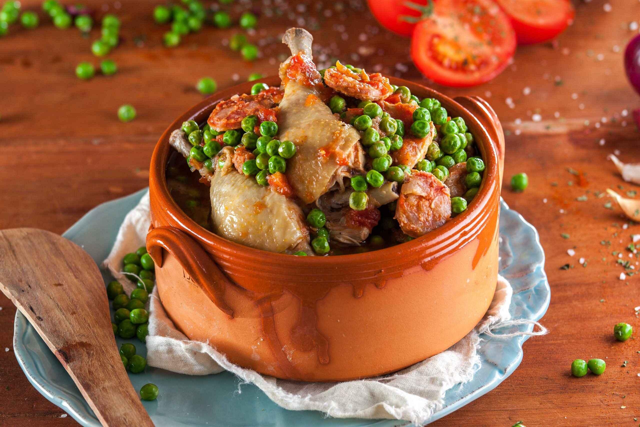 Janta rápida e Fácil de Frango com Ervilhas simples