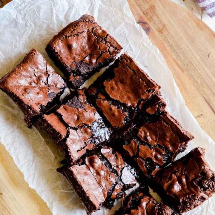 Receita de Brownie com crosta crocante
